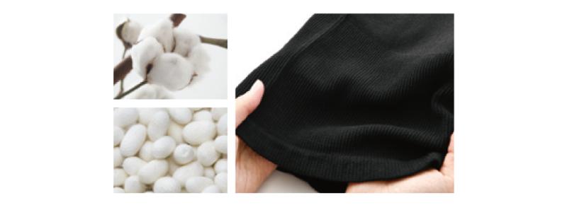 コットン シルク 綿 絹 吸湿性 通気性 保湿性